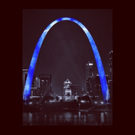 Let's Turn the St. Louis Arch Blue!