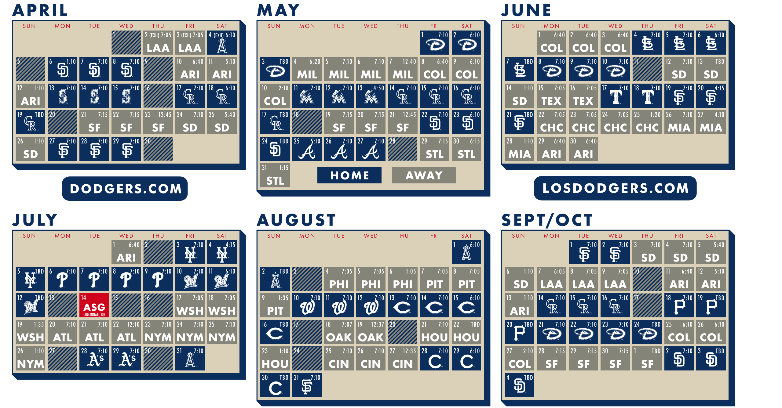 calendar | outside the dodgers