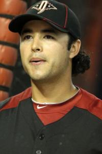 Andre Ethier in the 2011 National League All Star black cap and jersey